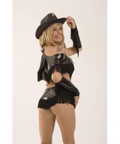 Fantasia Cowgirl Body 5 peças Aline Lingerie