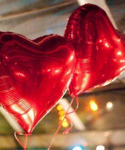 Balão Coração Metalizado Decoração dia dos namorados