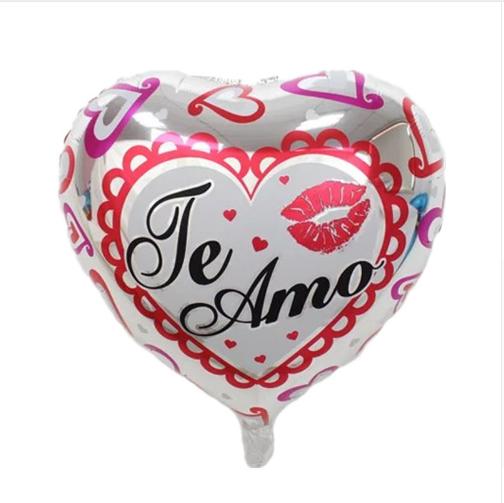 Balão Coração Prata Te Amo Aline Lingerie