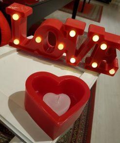 vela Coração Luminária - Dia dos Namorados