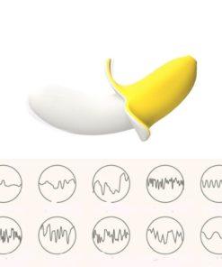 Vibrador Little Banana com 10 modos de vibração